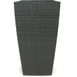 Self-watering pot rectangle high Artificial Rattan