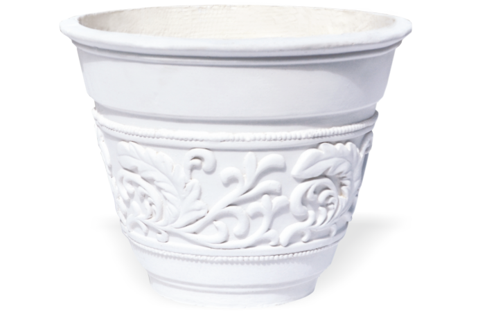 Fiberclay Classic Pot with decorative pattern