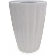 Fiberglass Modern Pot conus ribbed Shiny