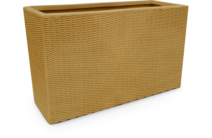 Fiberglass Nature Pot rectangle Artificial Rattan